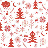 Seamless Christmas pattern red