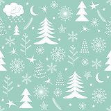 Seamless Christmas pattern green