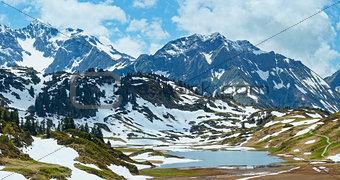 Alpine mountain panorama (Vorarlberg,Austria)