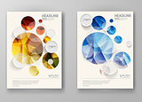 Set of abstract design templates.