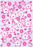 Pink Abstract  floral pattern background