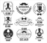 Vintage Gentlemen Club Logos Set