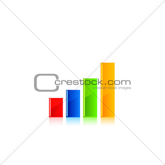 Business graph vector.