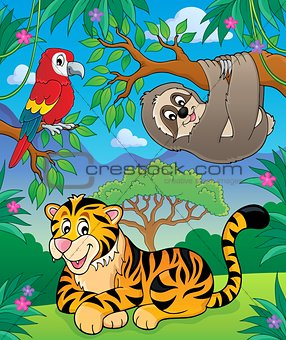 Animals in jungle topic image 2