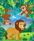 Animals in jungle topic image 3