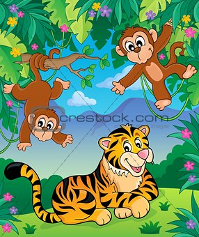 Animals in jungle topic image 4
