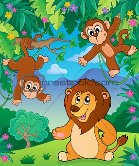 Animals in jungle topic image 5
