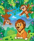 Animals in jungle topic image 6