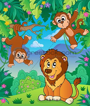 Animals in jungle topic image 6