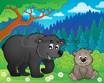 Bears in nature theme image 2