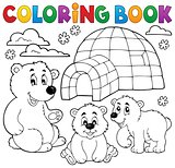 Coloring book with polar theme 1