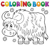 Coloring book yak theme 1