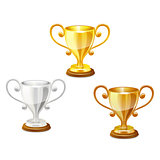 trophy set vector.