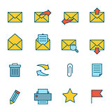 Email Icons Flat