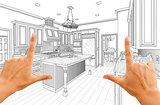 Hands Framing Custom Kitchen Design Drawing