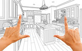 Hands Framing Custom Kitchen Design Drawing