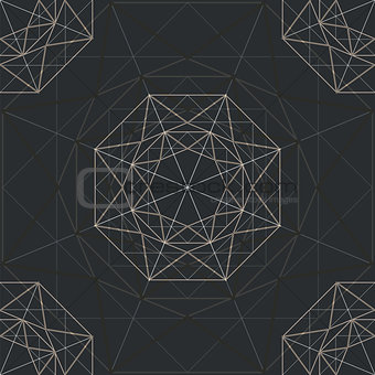 abstract background with diamond