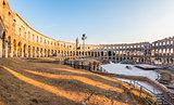 Ancient Roman Amphitheater in Pula, Croatia