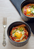 breakfast cups eggs with bacon