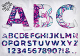 Wrapped alphabet lines