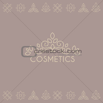 Beauty Industry Lettering and Curls. Vector Set