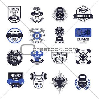Fitness Emblems Vector Set