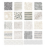 Handdrawn Doodle Textures, Black and White Vector Set