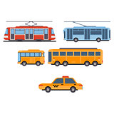 City Transport. Vector Set