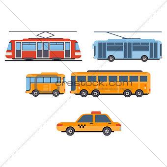 City Transport. Vector Set