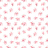 Hibiscus Flowers Pattern, Hand-Drawn Vector Pattern
