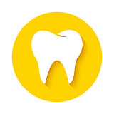 Tooth icon. Dental logo.