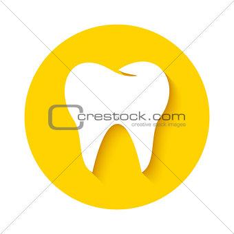 Tooth icon. Dental logo.