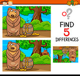 find differences task for kids