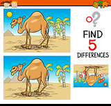 find differences educational task