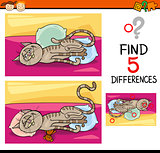 differences preschool task