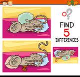 differences preschool task
