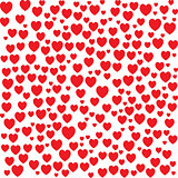 Red hearts seamless bakground pattern