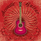 grunge guitar background for the cover, advertising or invitation