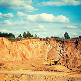 Excavator on a Sand Quarry