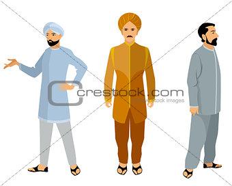 Three indian men in dress