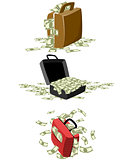 Suitcases with money