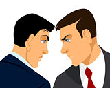 Two businessmen confrontation