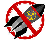 Nuclear rocket sign