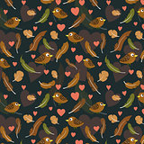 feathers and birds pattern