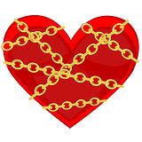 Heart in chain