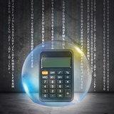 Calculator in bubble