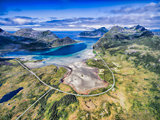 Scenic road on Lofoten