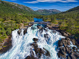Likholefossen waterfall in Norway