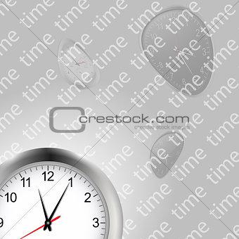 Time and clocks backgroundai