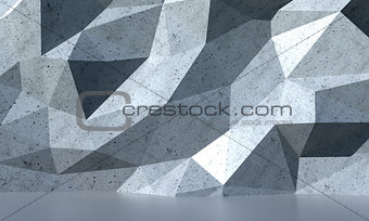 Abstract white polygon wall background